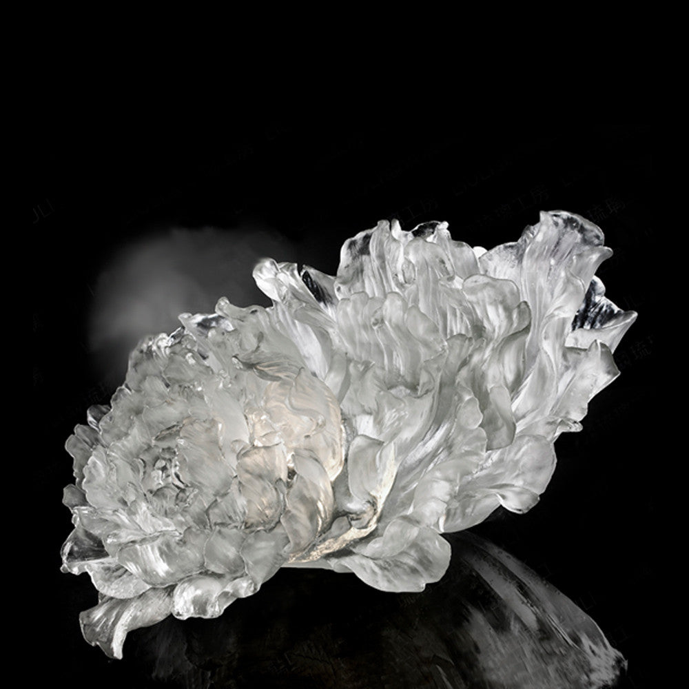 Crystal Flower, Peony, The Proof of Awareness-Amorous (Collector's Edition) - LIULI Crystal Art