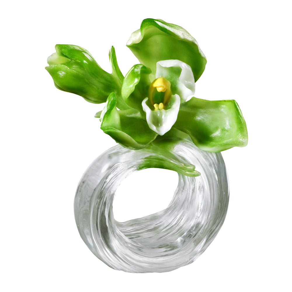 Imminent Spring Dance - A Chinese Liuli Flower (Orchid Sculpture) - LIULI Crystal Art - [variant_title].