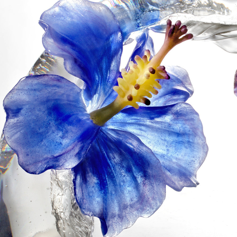 Song of the Morning Flower - A Chinese Liuli Flower (Hibiscus Sculpture) - LIULI Crystal Art - [variant_title].