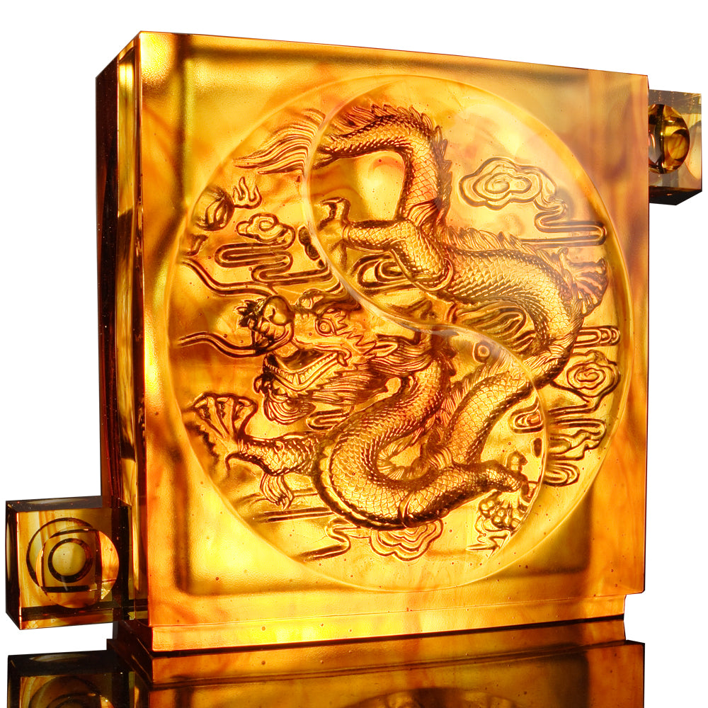 Dragon of Authority - From Taiji Comes The Dragon - LIULI Crystal Art - [variant_title].