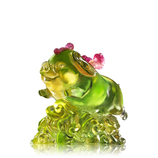 Wishing You Luck and Happiness (Blessing) - Flying Pig Figurine