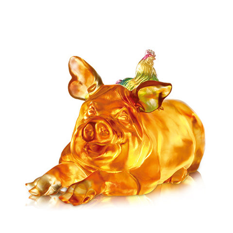 "Pig Figurine (Favorable) - ""Grand Affairs, Grand Fortunes"""