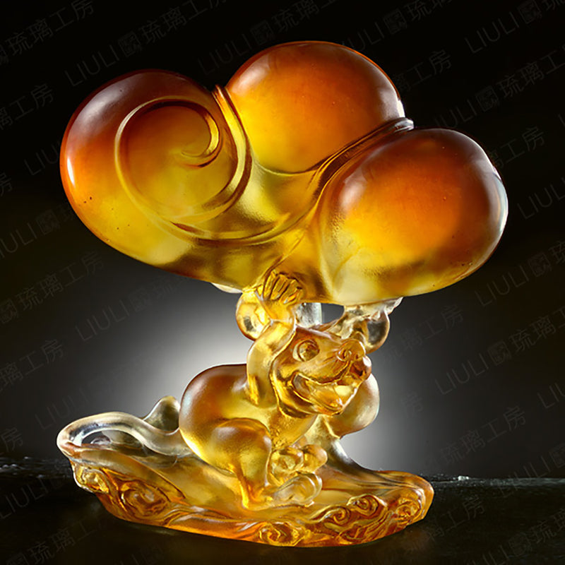 Crystal Animal, Mice, Mouse, Year of the Rat, Luck My Way - LIULI Crystal Art