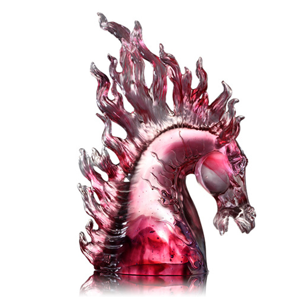 Glory (Immortality) - Handcrafted Crystal Horse Figurine - LIULI Crystal Art