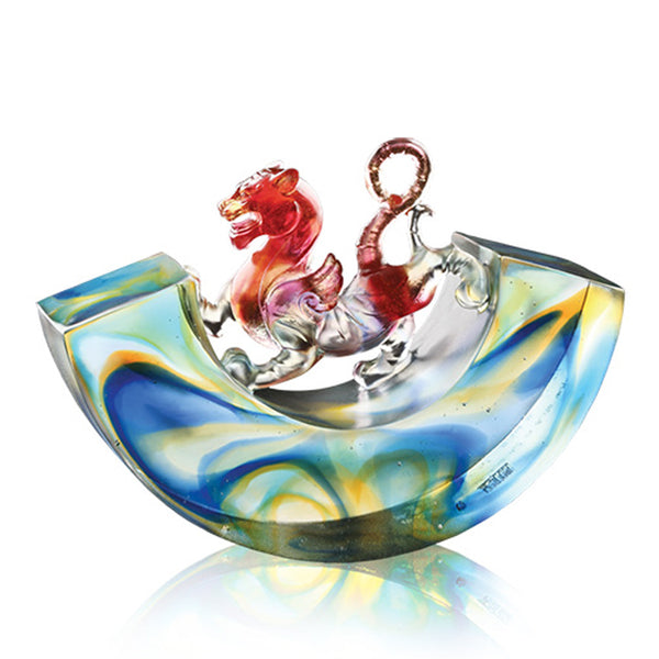 "Mythical Creature (Pixiu, Ambition) - ""A Rollicking World, A Progressive Heart"" - LIULI Crystal Art 