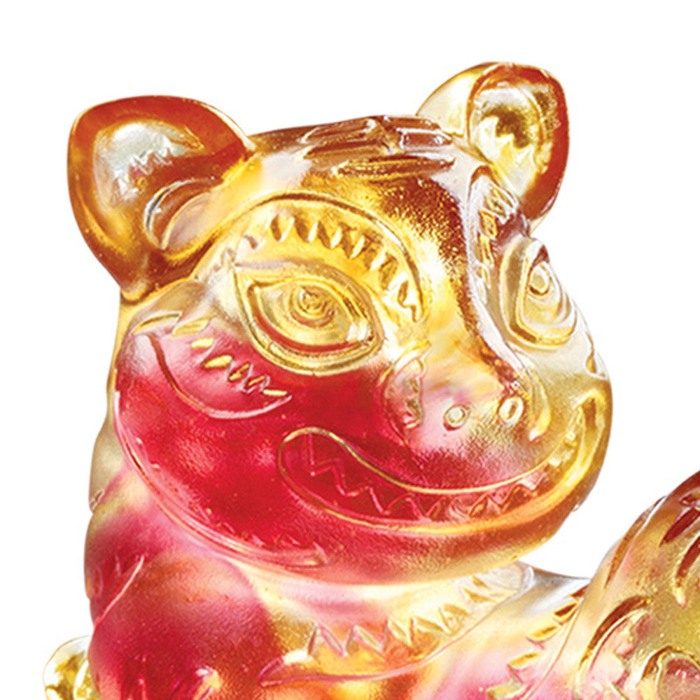 "Tiger Figurine (Fortune) - ""Coming with Steps to Fortune"" - LIULI Crystal Art - [variant_title]."