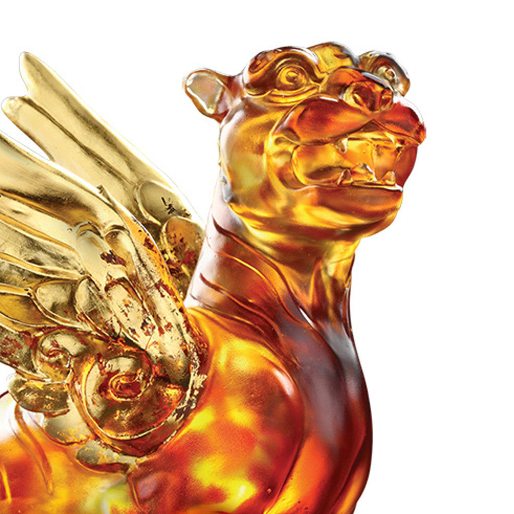 Tiger Figurine (Success) - Heavenly Wings of the Tiger - LIULI Crystal Art - [variant_title].