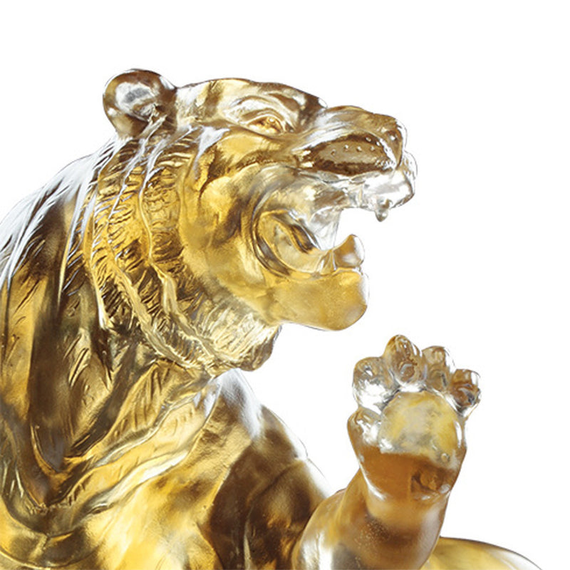 Eight Thousand Miles (Leading the Way) - Tiger Figurine - LIULI Crystal Art - [variant_title].