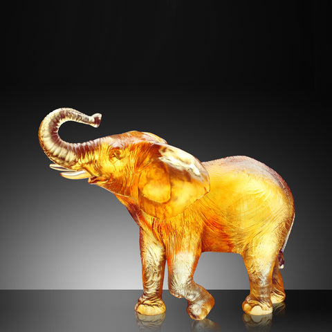 "Elephant Figurine (Joyful Life) - ""Bath in Happiness"""