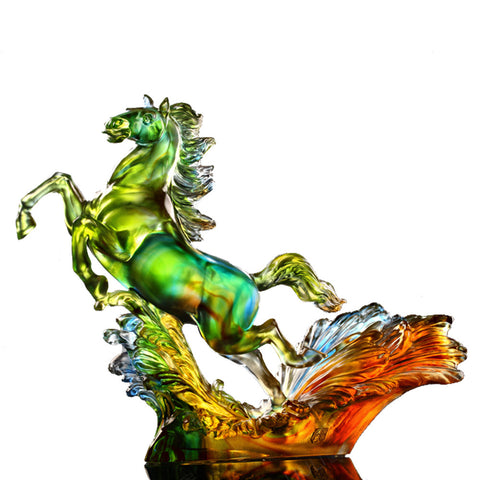 "Horse Figurine (Zodiac, Victory and Success) - ""A Mighty and Mythical Steed"""