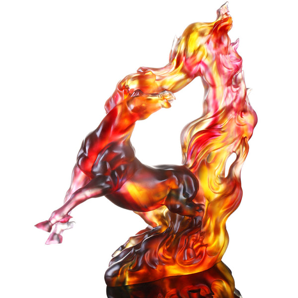-- DELETE -- Prosperous Honor (Authority and Respect), Handcraft Crystal Horse Figurine - LIULI Crystal Art