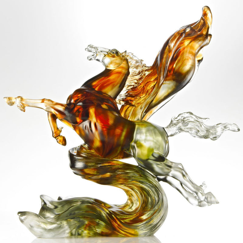 Victory from the Start (Victory) - Horse Figurine - LIULI Crystal Art