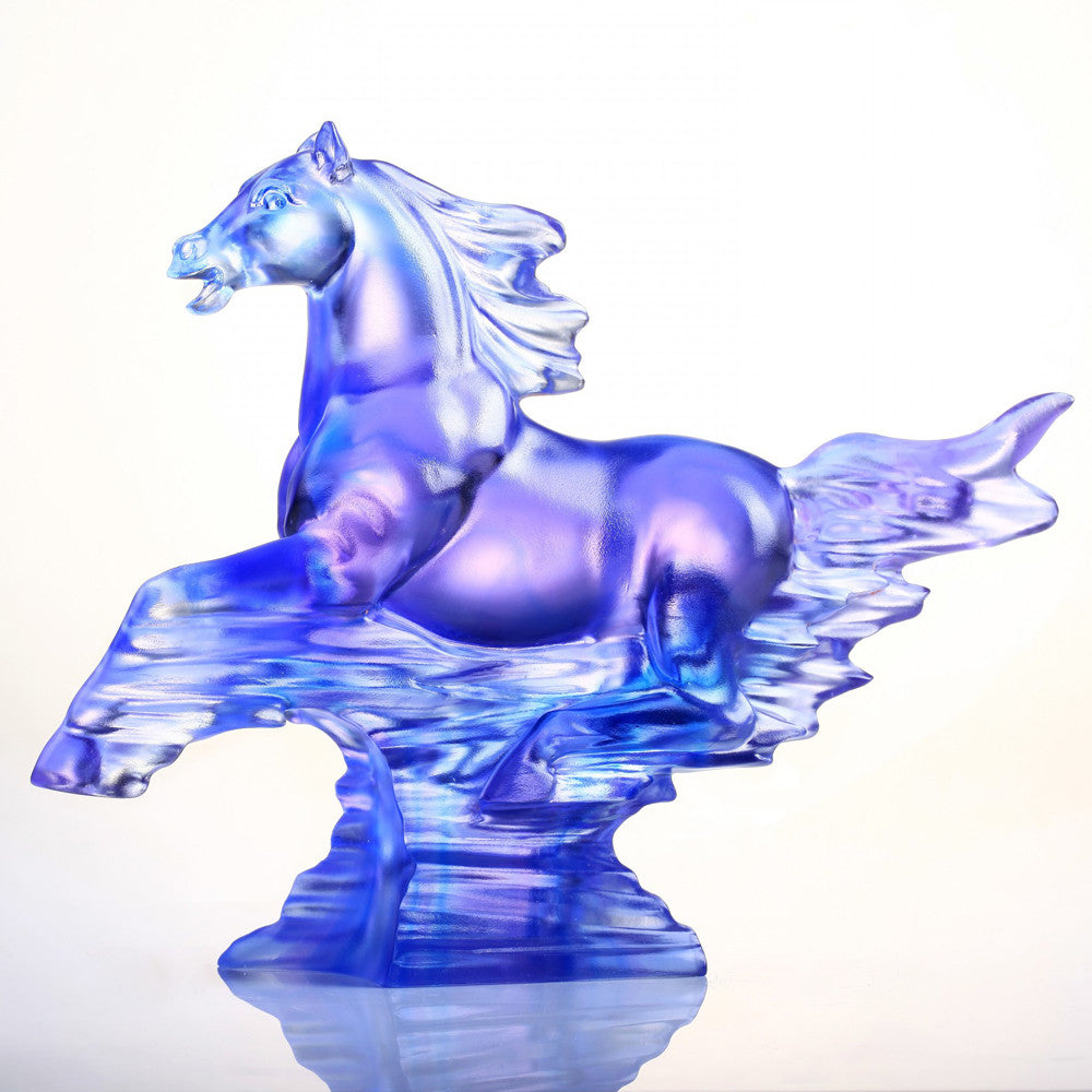 The Leader (Leadership) - Horse Figurine - LIULI Crystal Art - [variant_title].