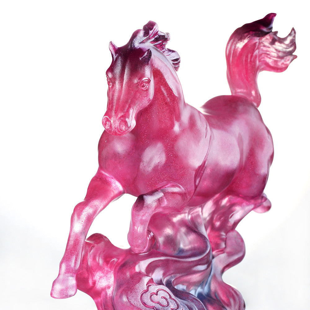 The Vast Sky (Invincible) - Crystal Horse Figurine - LIULI Crystal Art