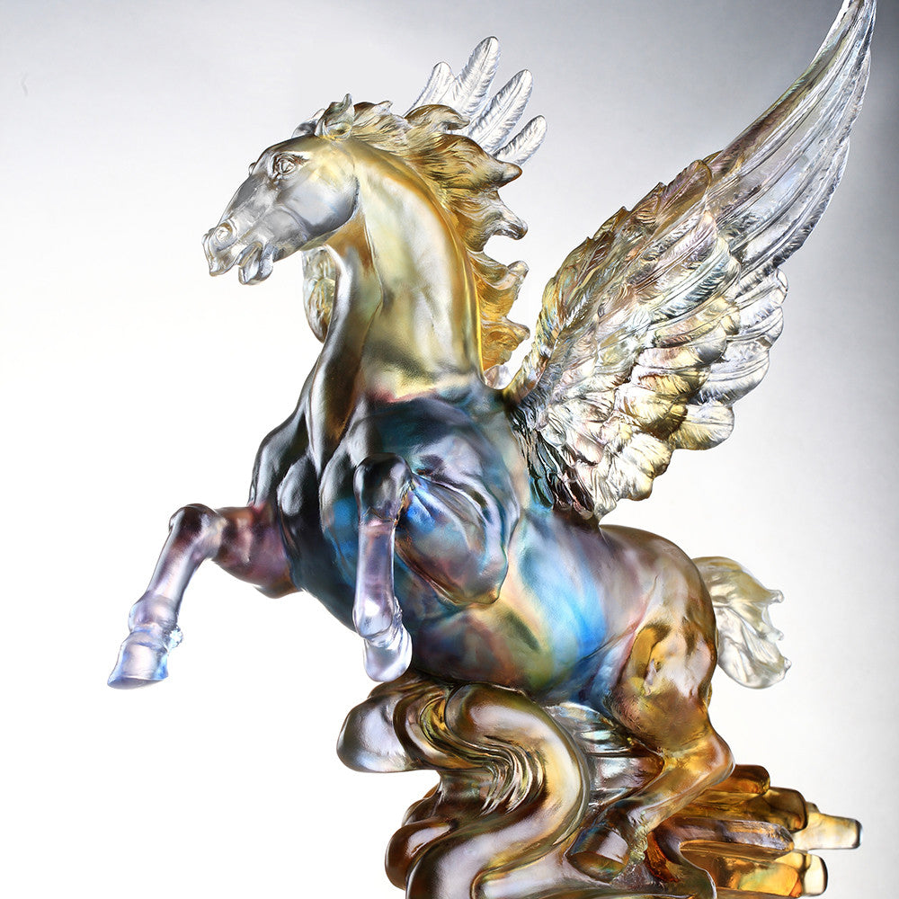 Rise (Breakthrough) - Flying Horse, Pegasus Figurine - LIULI Crystal Art - [variant_title].