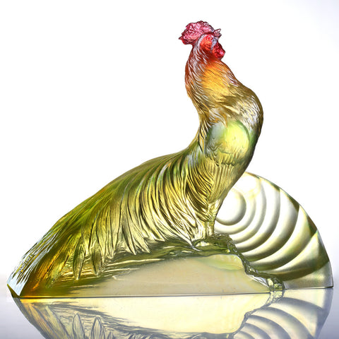 "Rooster Figurine (Welcoming) - ""Welcome the Sunrise"""
