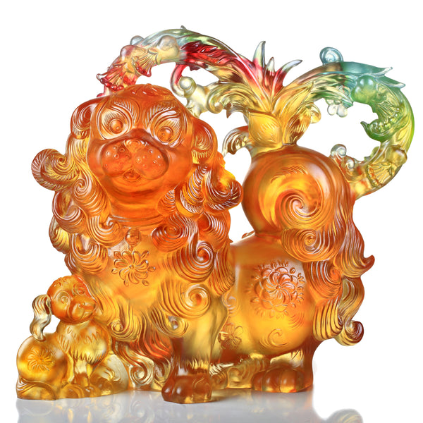 Mighty Fortune - Dog Figurine (Wealth) - LIULI Crystal Art | Collectible Glass Art