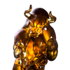 Crystal Animal, Fighter Bull, Fearless and Undaunted - LIULI Crystal Art