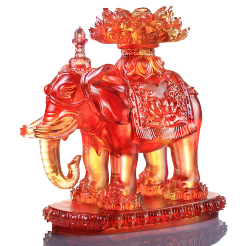 Elephant Figurine (Blessings) - An Auspicious and Pure Existence