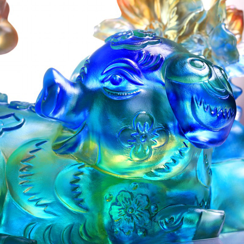Fulfillment (Abundant) - Pig Figurine - LIULI Crystal Art - [variant_title].