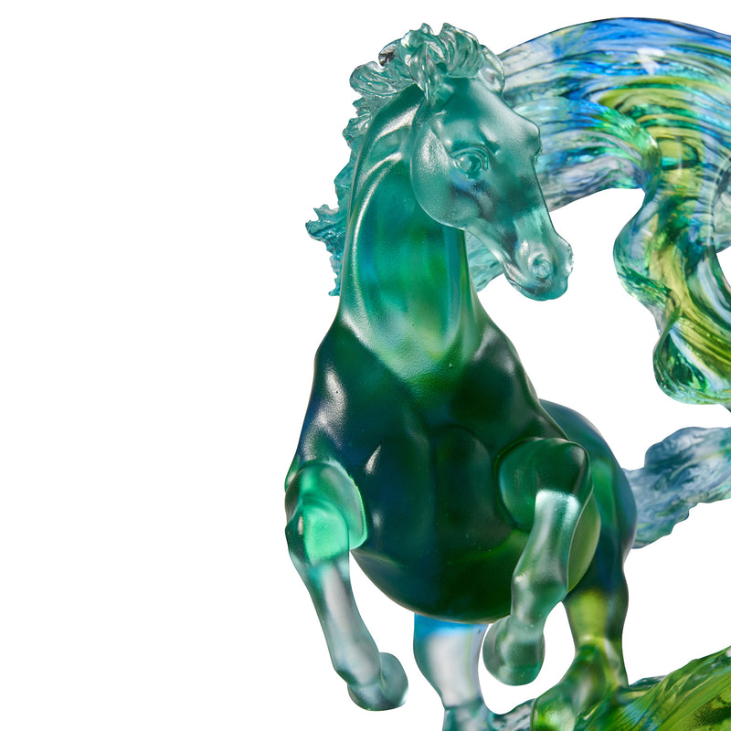 LIULI Crystal Glass Horse Sculpture, Accomplished