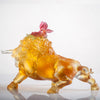 LIULI Crystal Art Year of the Ox Sign Step into Prosperity