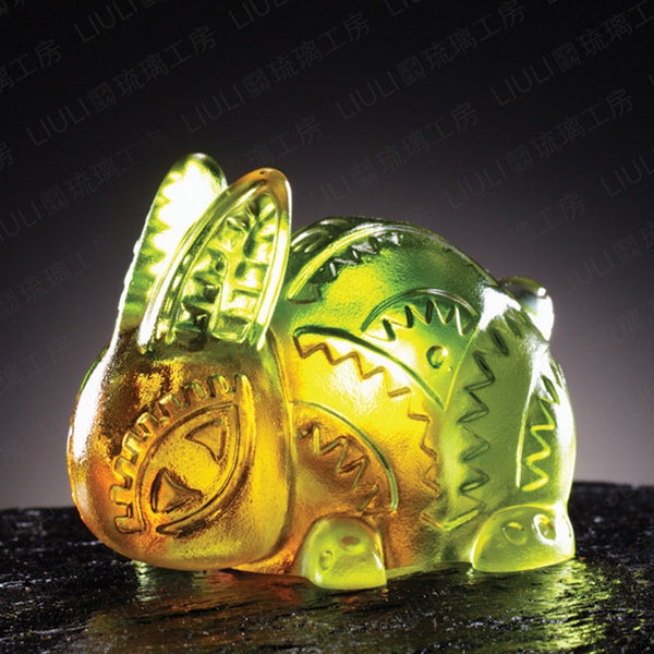 "Bunny Rabbit Figurine (Considerate) - ""Little Rabbit"" - LIULI Crystal Art"