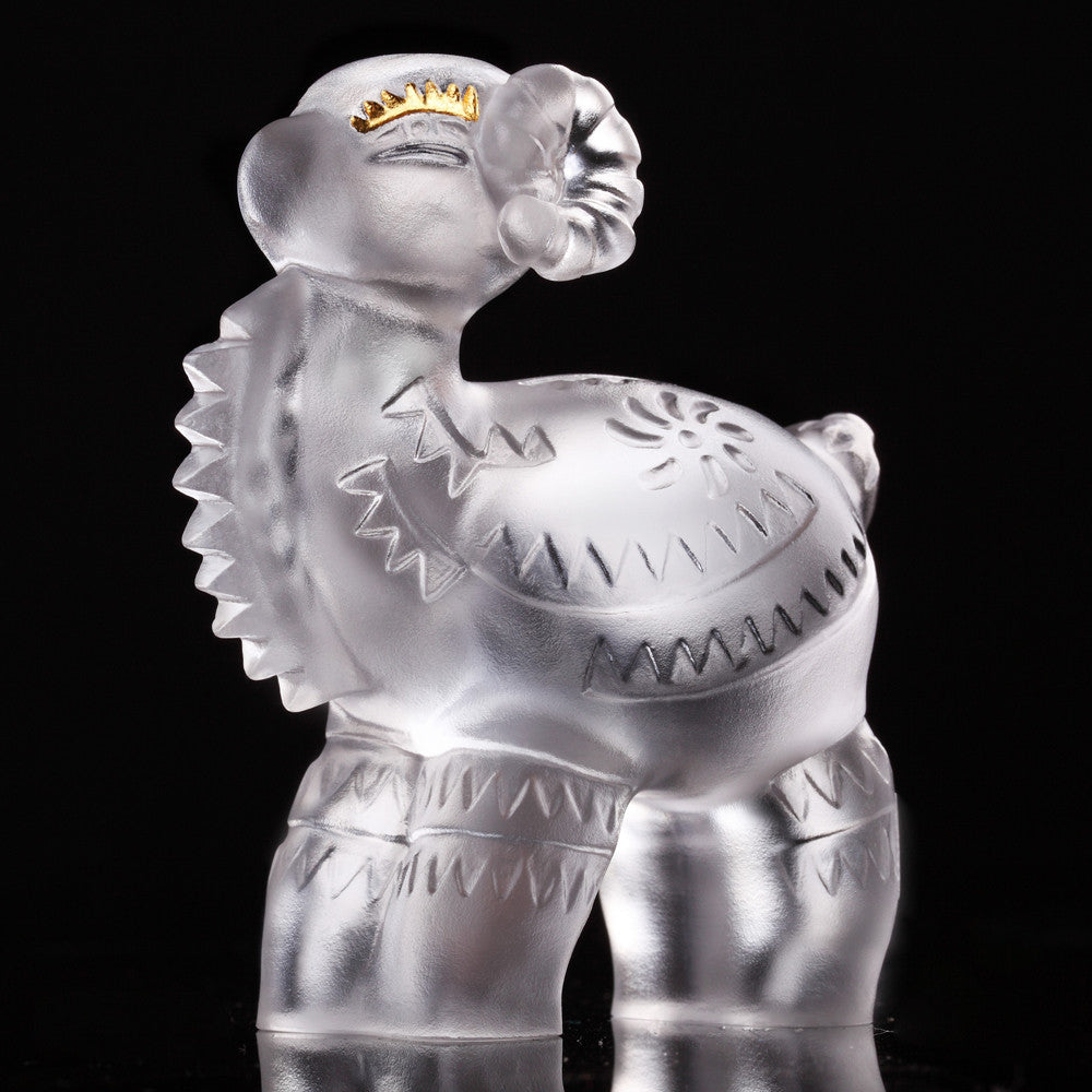 Decal Little Sheep (Accomplishment) - Crystal Sheep Figurine (24K Gold Leaf Edition) - LIULI Crystal Art - [variant_title].