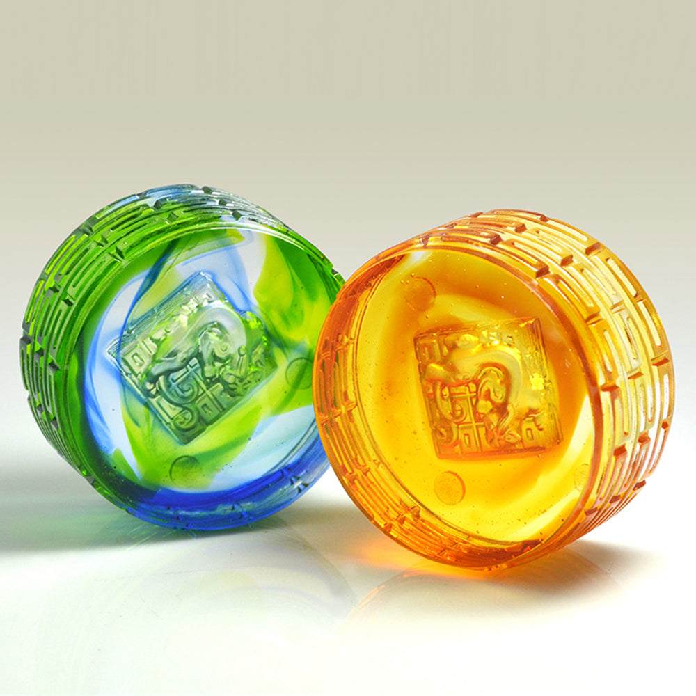 Heavenly Accomplishment (Ambition) - Crystal Paperweight - LIULI Crystal Art - [variant_title].