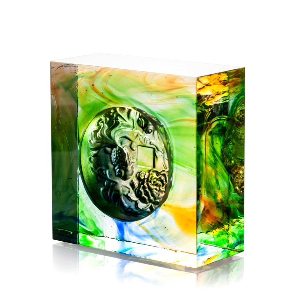 Crystal Fish, Goldfish, Prosperity Abound - LIULI Crystal Art