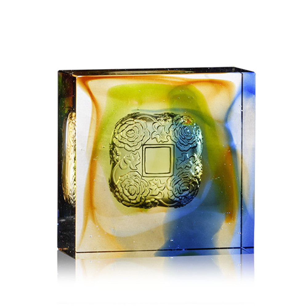 Crystal Paperweight, Complete Magnificence - LIULI Crystal Art