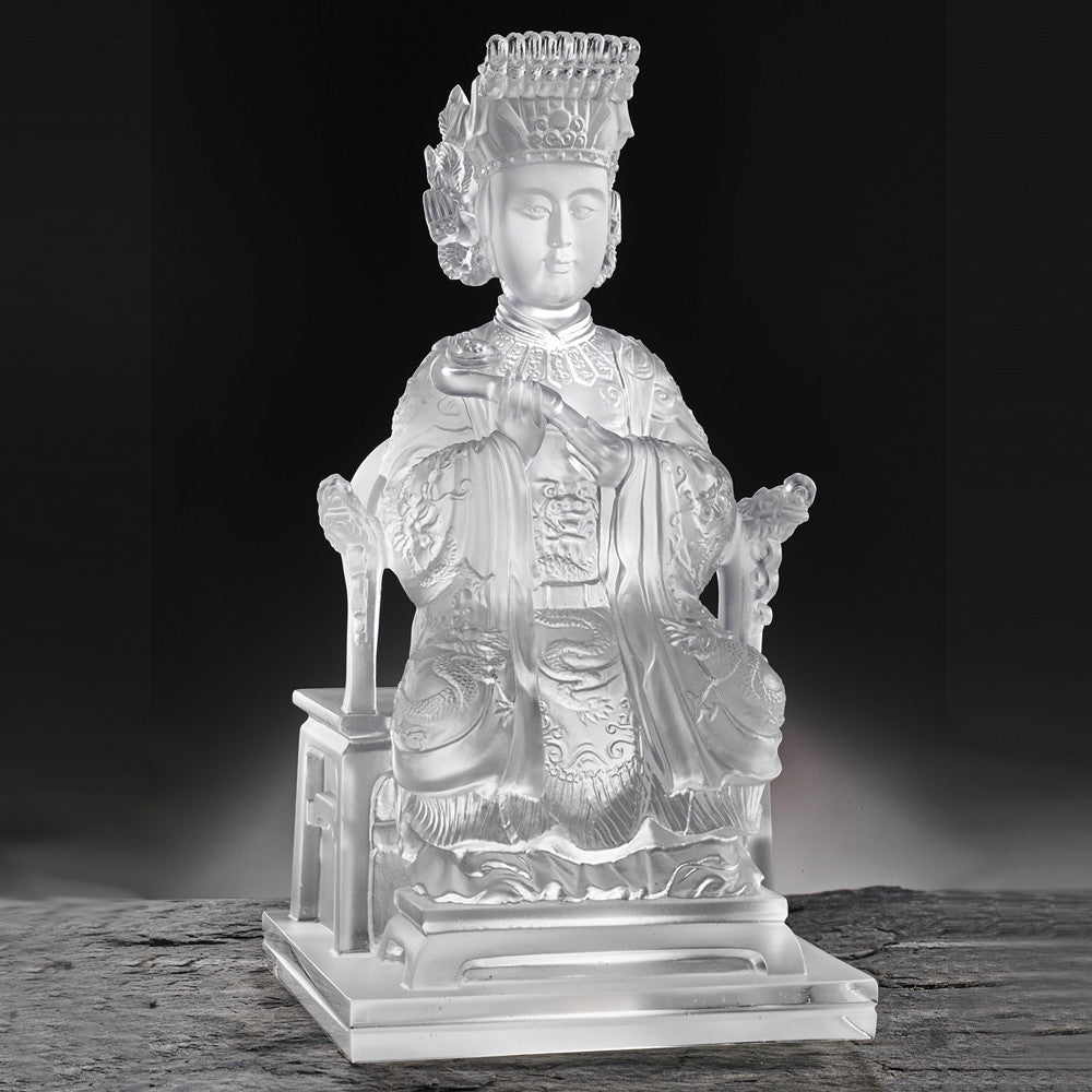 Crystal Buddha, Mazu, Life of Bliss - LIULI Crystal Art