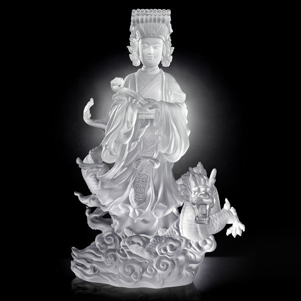 Buddha Figurine (Mazu) - Goddess of the Sea, Waves of Benevolent Light - LIULI Crystal Art