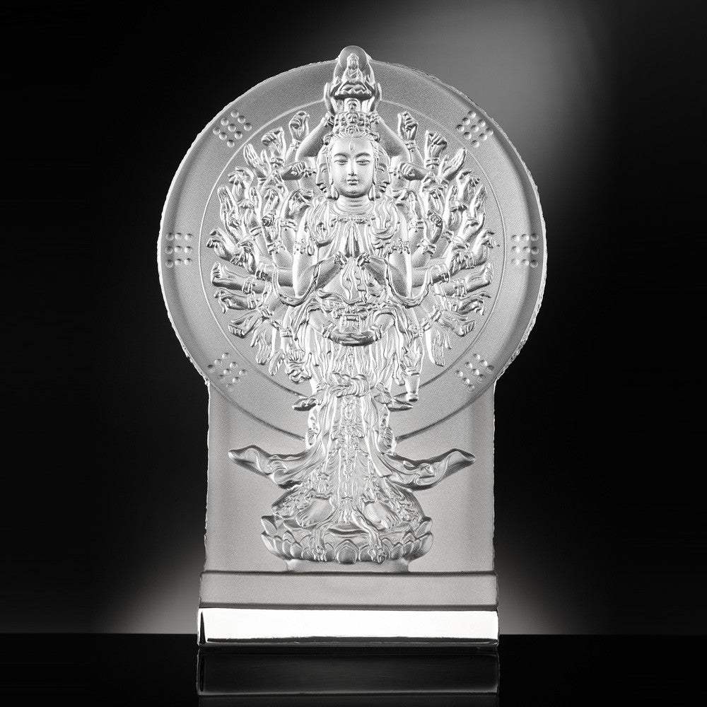 The Light of Guanyin - Thousand Arms Guanyin (Compassionate) - LIULI Crystal Art | Collectible Glass Art