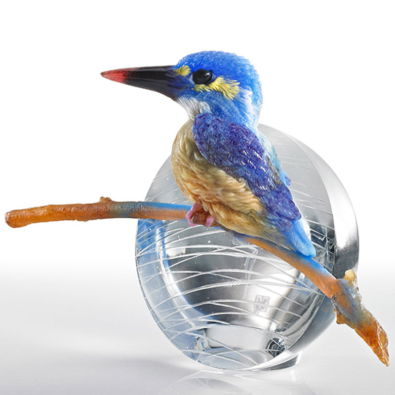 To See, Is To Believe - Kingfisher - Bird Figurine (Behold Our Dream Taking Off) - LIULI Crystal Art