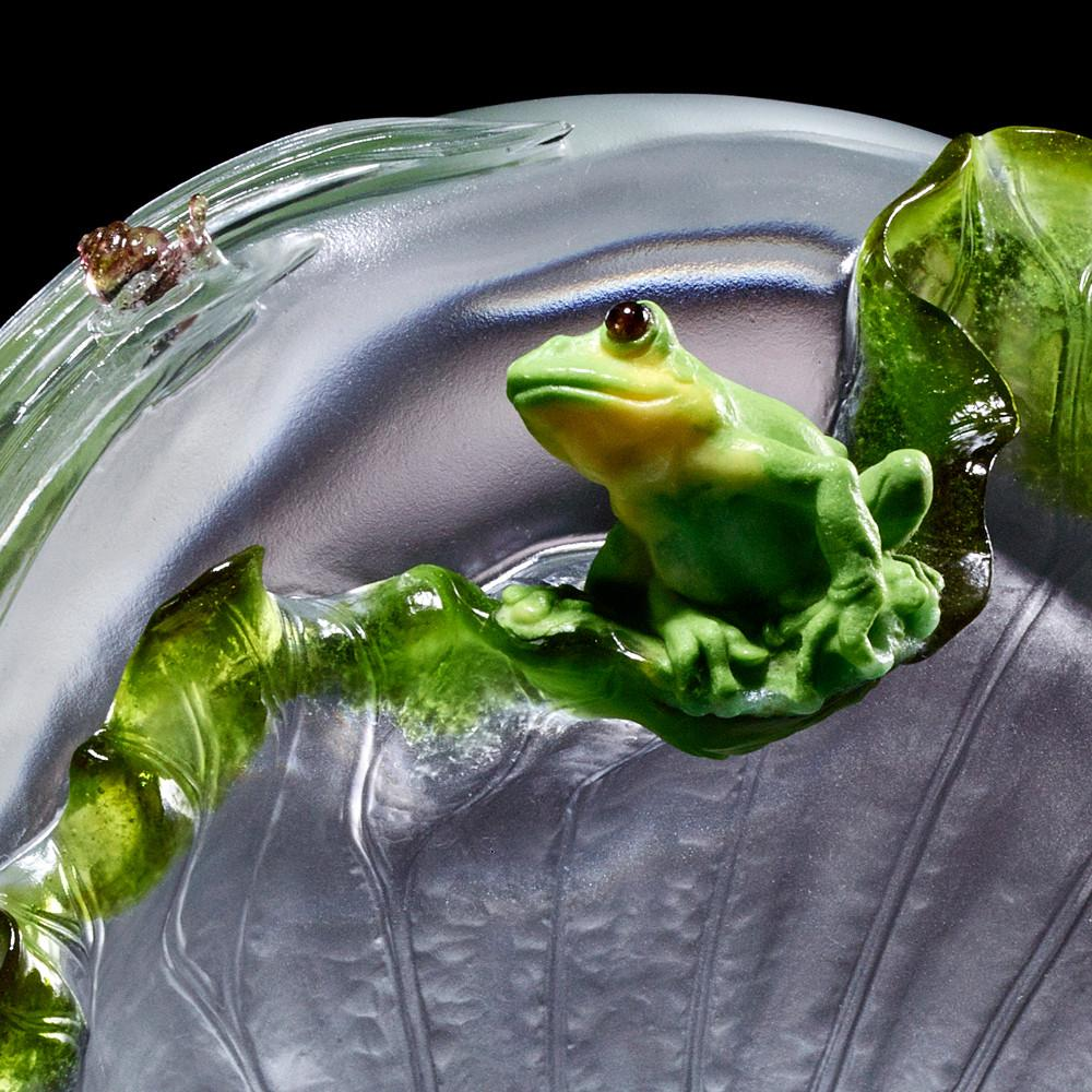 Crystal Animal, Frog and Snail, A Song For When the Rain Stops - LIULI Crystal Art
