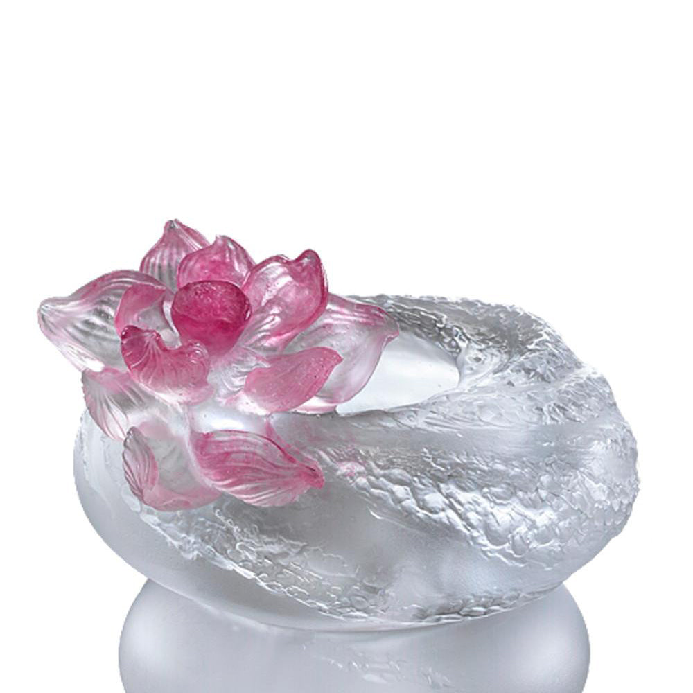 -- DELETE -- Crystal Flower, Lotus, A Fresh and Wonderful Blessing-Lotus - LIULI Crystal Art