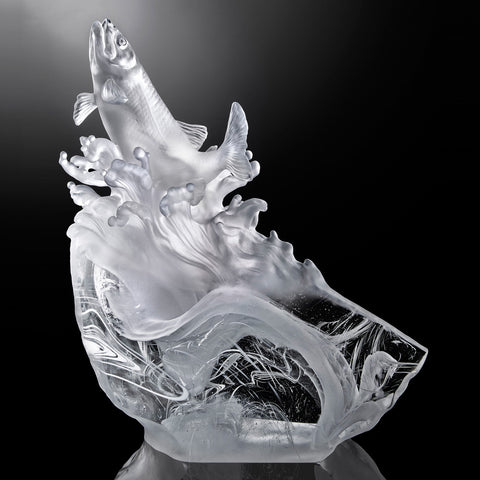 Fish Figurine (Salute to Life) - Rising From the Glacier