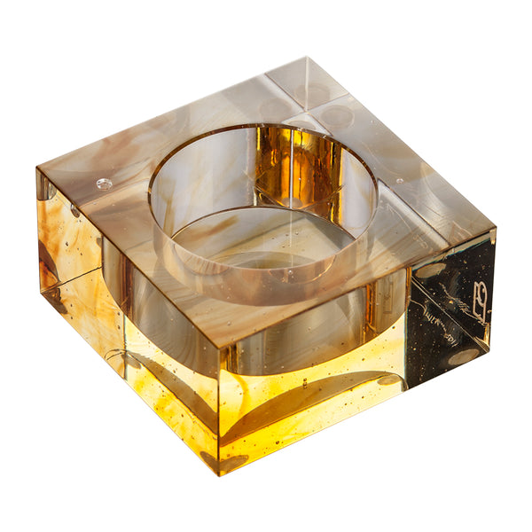 Votive Tea Light Candle Holder (Candle Lit Soiree) - LIULI Crystal Art | Collectible Glass Art