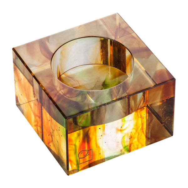 Votive Tea Light Candle Holder (Candle Lit Soiree II) - LIULI Crystal Art | Collectible Glass Art