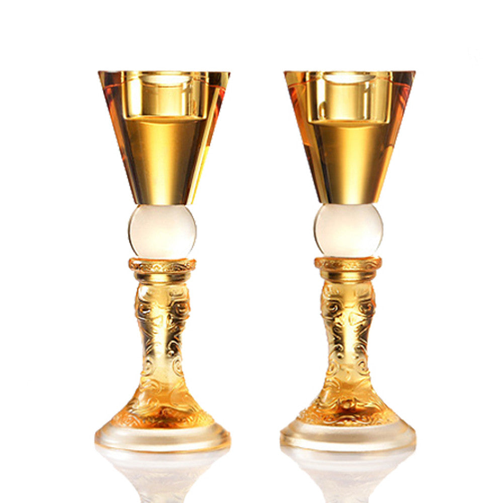 Hundred Years of Harmony, 50th Anniversary Candle Holder (Set of 2) - LIULI Crystal Art - [variant_title].