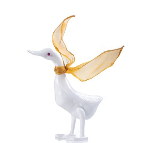 "Duck Figurine - ""The Duck"" (Floral Pattern on Tail)"