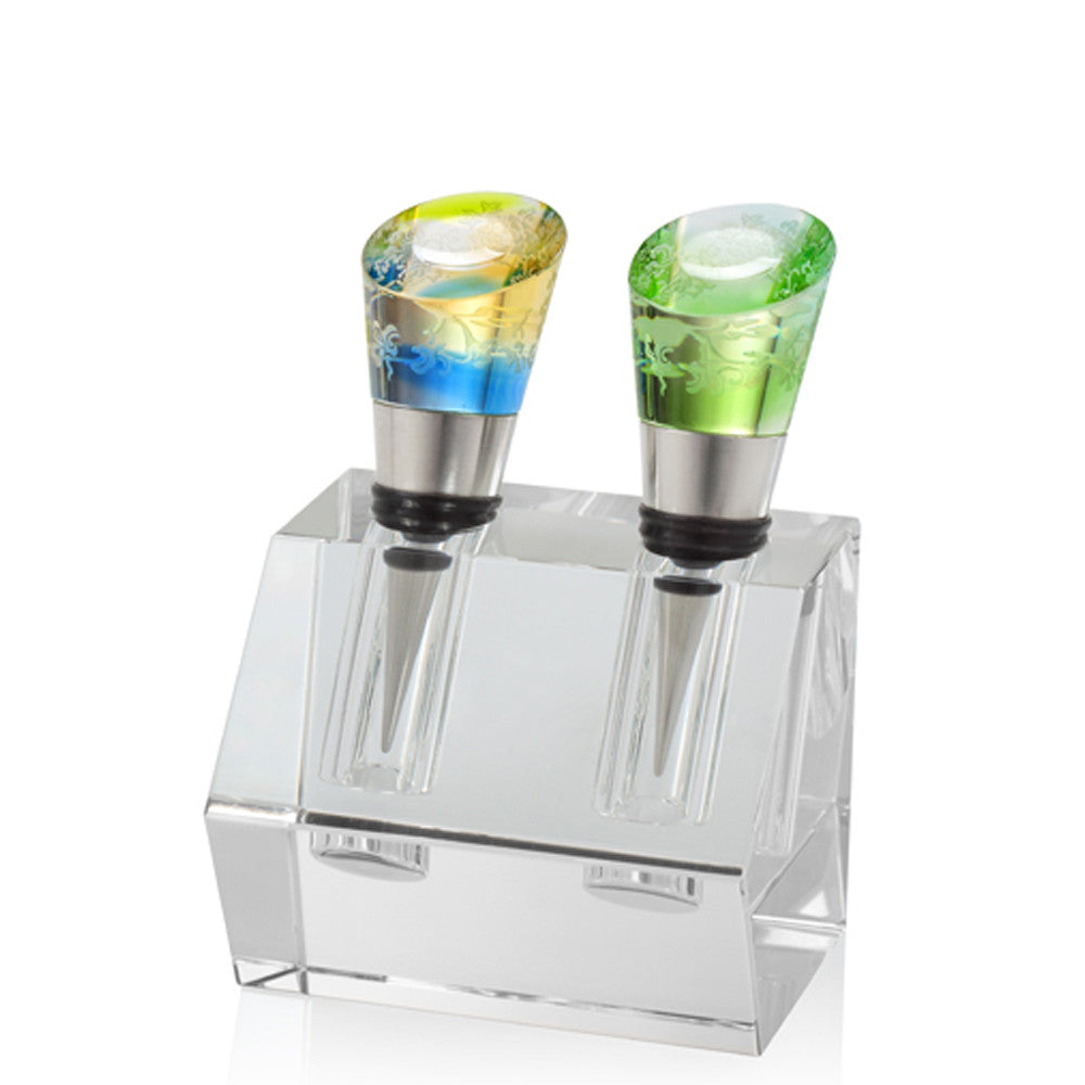 Wine Stopper - Richly Intoxicating Beauty (Set of 2) - LIULI Crystal Art - [variant_title].