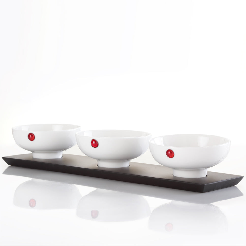 Bone China Bowl - Delectable Bites (Set of 4) - LIULI Crystal Art - [variant_title].