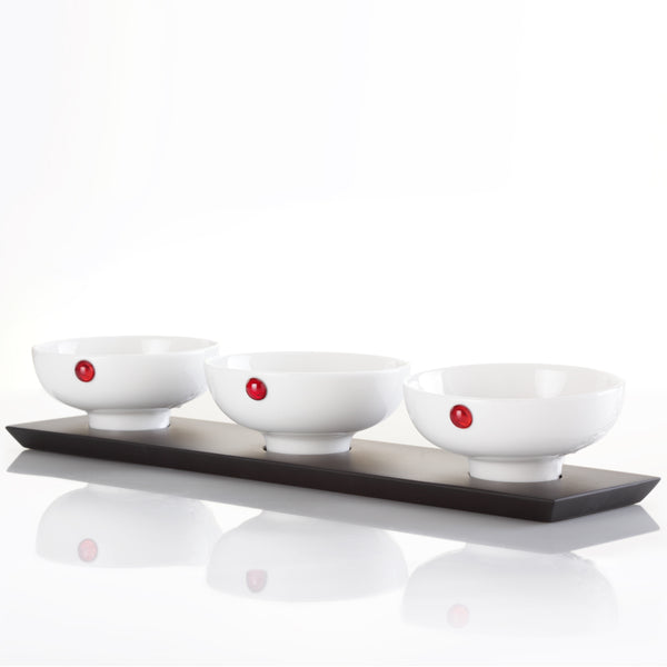 Bone China Bowl - Delectable Bites (Set of 4) - LIULI Crystal Art