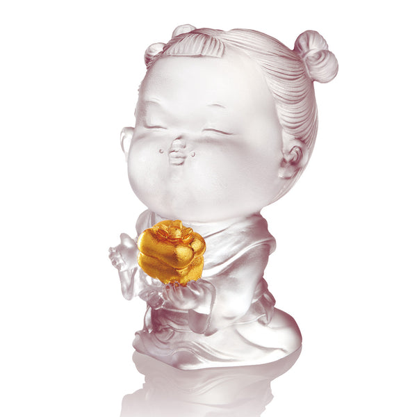 Doll of Good Fortune - Baby Ruyi - LIULI Crystal Art