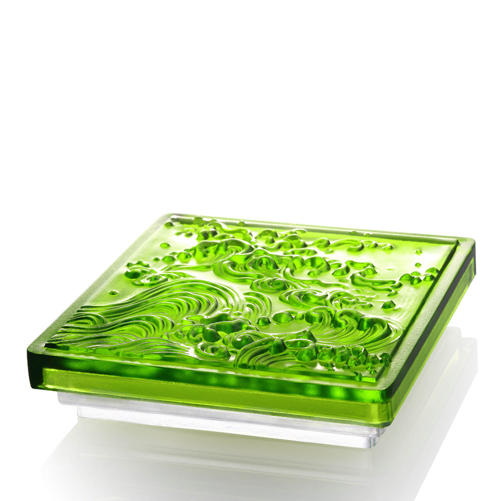 Incense, A Happy Excursion, Anonymous - LIULI Crystal Art - Green.