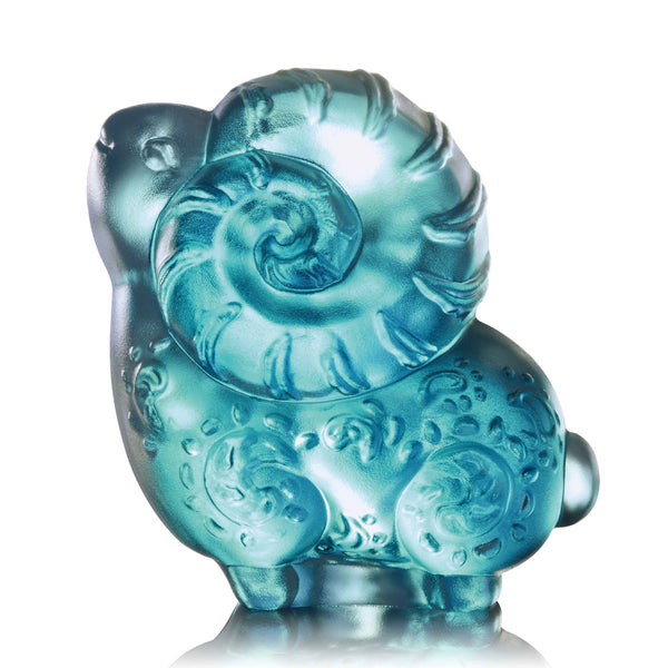 "Zodiac (Sheep, Confident) - ""Ram of Opportunity"" - LIULI Crystal Art 