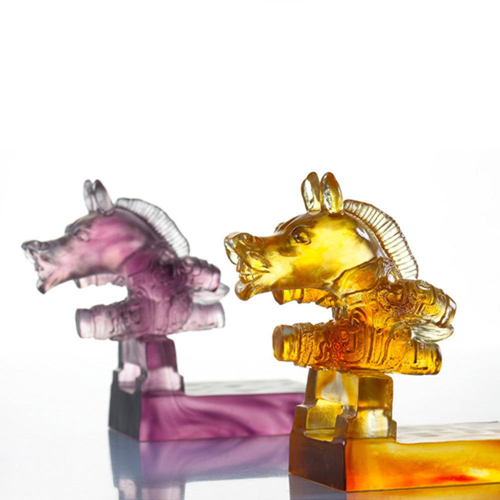 "Horse Figurine (Ambition) - ""Sprint"" - LIULI Crystal Art 