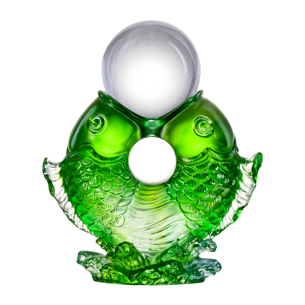 Crystal Fish, Feng Shui, As The Good World Turns-Twin Fish Turning of Ruyi